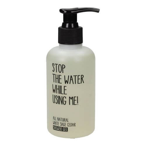 Stop the water while using me All Natural White Sage Cedar Shower Gel 200 ml
