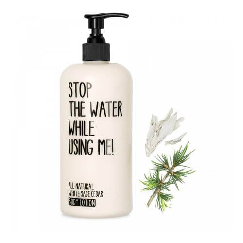Stop the water while using me All Natural White Sage Cedar Body Lotion 200 ml