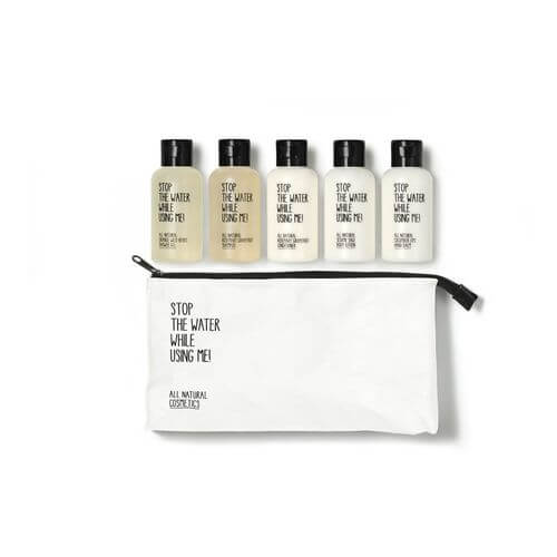 Stop the water while using me All Natural Cosmetic Travel Kit