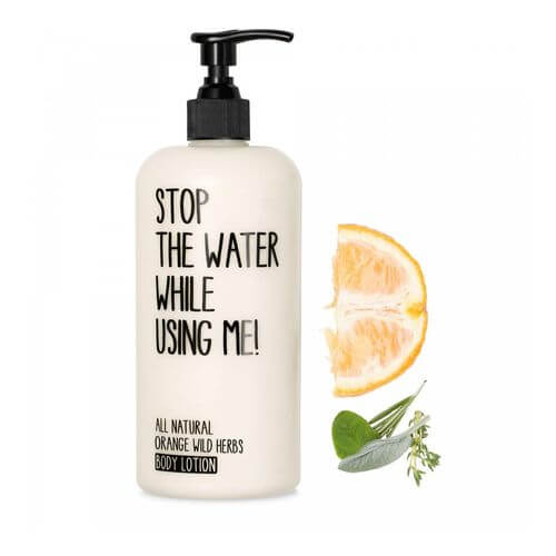 Stop the water while using me All Natural Orange Wild Herbs Body Lotion 200 ml