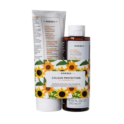 KORRES Sunflower & Mountain Tea Hair Collection Set