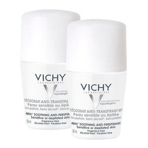 VICHY DEO Roll-on Sensitiv Anti Trans.48h Doppelpack