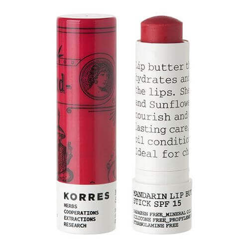 KORRES Mandarin Lip Butter Stick SPF 15 rose