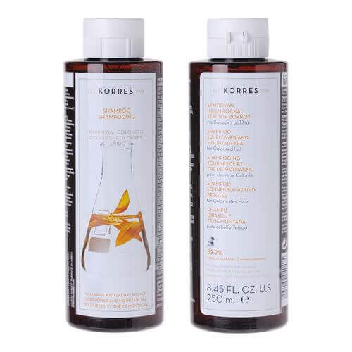 KORRES SUNFLOWER and Mountain Tea Shampoo