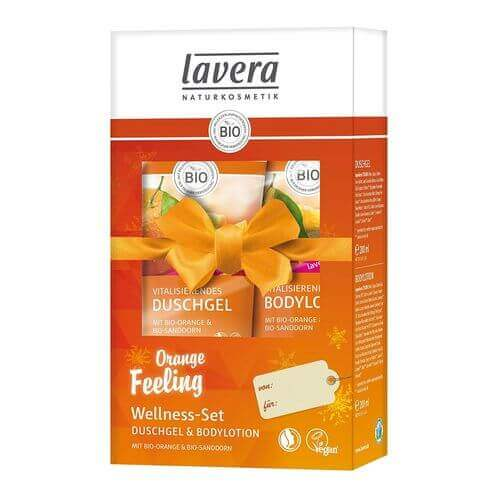 LAVERA Bio-Orange Bodylotion+Duschgel SET