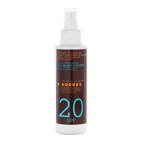 KORRES WALNUT+COCONUT SPF 20 Spray