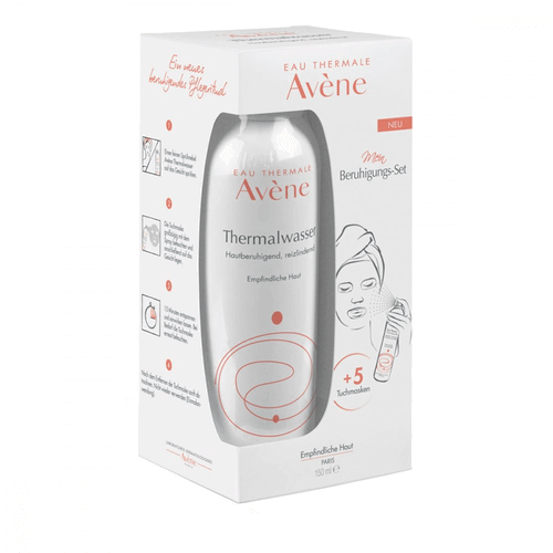 AVENE Thermalwasser Spray+5 Tuchmasken Set