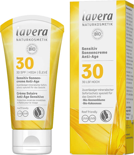 LAVERA sensitiv Sonnencreme anti-age LSF 30