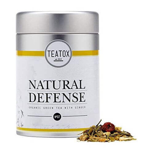 Teatox NATURAL Defense Organic green Tea with Ginger Dose