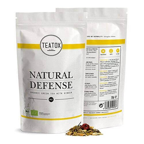 Teatox NATURAL Defense Organic green Tea with Ginger Ref.